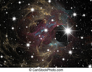 Starfield - Space A congestion of stars Astronomy background...