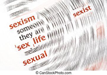 palabra, diccionario, sexo