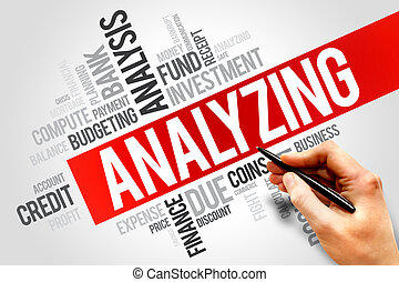 ANALYZING word cloud, business concept