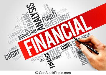 FINANCIAL word cloud, business concept