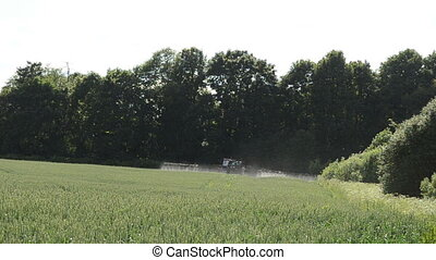 tractor spray field