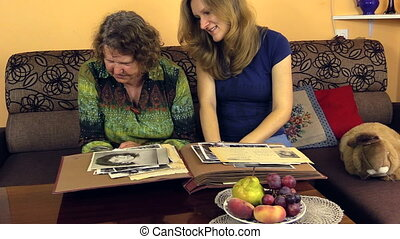 granny girl photo album - grandmother with granddaughter...
