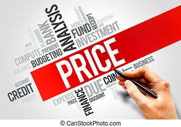 PRICE word cloud, business concept