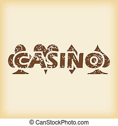 Grungy casino icon