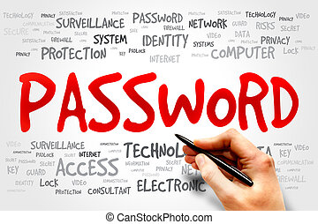 PASSWORD word cloud, business concept