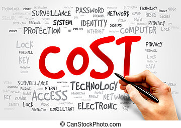 COST word cloud, business concept