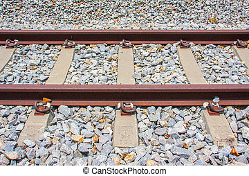 railway tracks - beside views of strong railway tracks, old...
