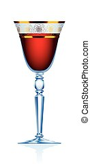 Red Wine Claret Glass - Red wine glass - blue crystal glass...