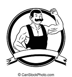 Strongman - This is the illustration of an old-style...