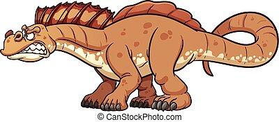caricatura, Dinosaurio,