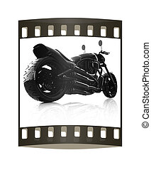 abstract racing motorcycle concept. The film strip