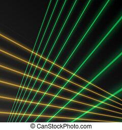 Laser beam background