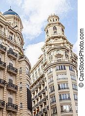 Valencia Citycenter - Spain, Valencia. Panorama of Plaza de...
