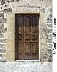 old door - old italian grange door  for your design