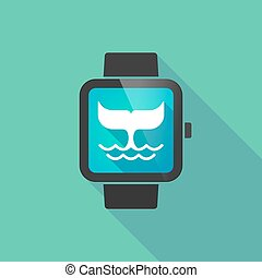 Smart watch with a whale tail