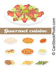 Food.eps - Gourmet cuisine illustration