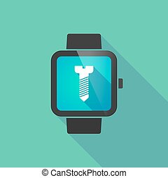 Smart watch with a screw
