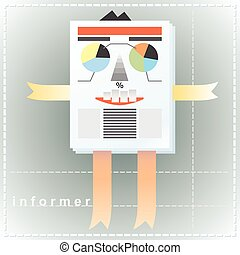 Informer-men - Creative, cartoon image of a man as an...