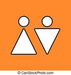 Vector heterosexual couple icon. Eps10 - Vector heterosexual...