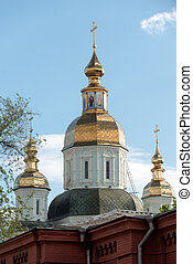 St Intercession Monastery in Kharkiv, Ukraine - Cathedral...