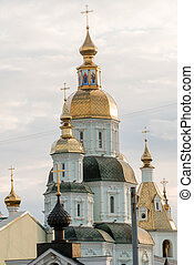 St. Intercession Monastery in Kharkiv, Ukraine - Cathedral...
