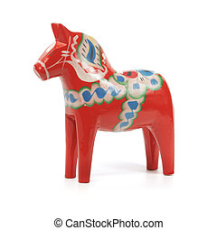 Dalecarlian horse - A Traditional Dalecarlian horse or Dala...