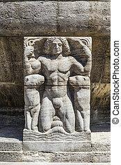 Mythological relief in the Sprudelhof of Bad Nauheim.This...