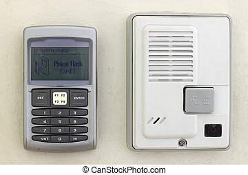 Security system keypad and intercom