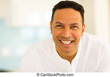 middle aged man close up - close up portrait of smiling...