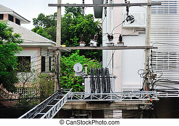 electrical transformer in data room