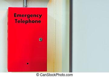 箱, セキュリティー, 呼出し, 電話, 緊急事態