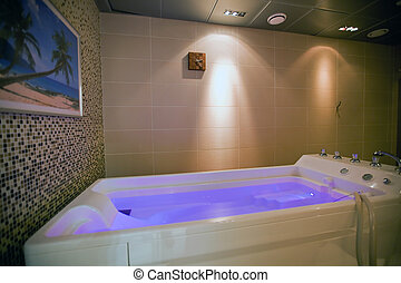 hydromassage bathtub in cosmetological clinic. small GRIP