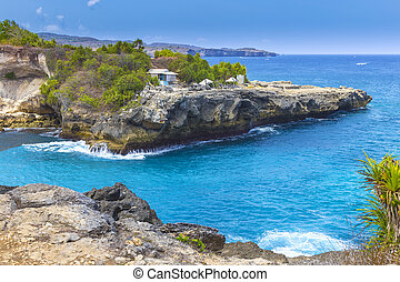 Tropical coastline. - Tropical Coastline of Lembongan...