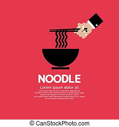 Noodles. - Noodles Vector Illustration.
