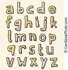 Complete set of stained alphabet letters