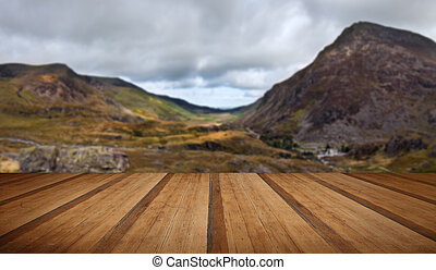 View along Nant Francon valley Snowdonia National Park...