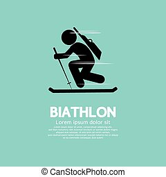 Biathlon. - Biathlon Vector Illustration.