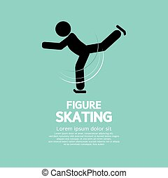 Figure Skating. - Figure Skating Vector Illustration.