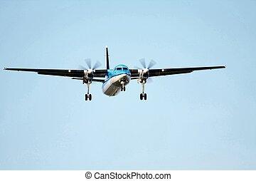 bieżnia, samolot, Zbliżając