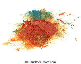 colorful grunge brush strokes oil