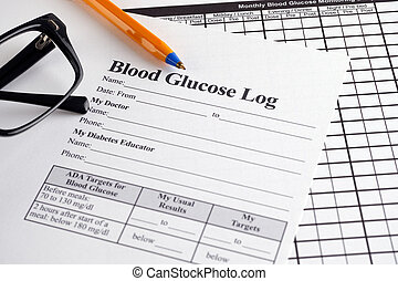 Blood Glucose Log and Monthly Blood Glucose Monitoring Diary...