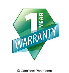 vector logo 1 year guarantee in the form of shield