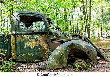 Old Truck from Cartersville Georgia - An old abandoned truck...