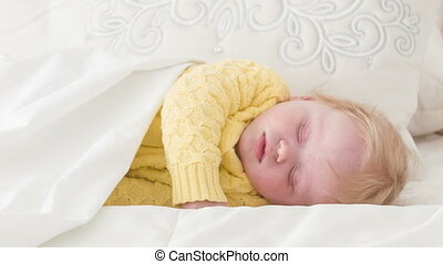 Disturbed sleep of little baby - Interesting dreams....