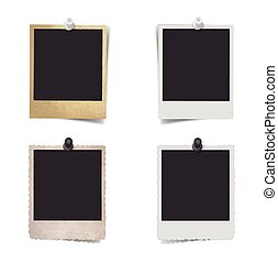 Blank photo frame with pushpin