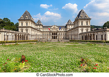 Valentino Castle in Turin, Italy. - Valentino Castle -...
