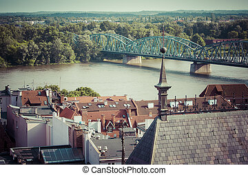 Poland - Torun, city divided by Vistula river between...