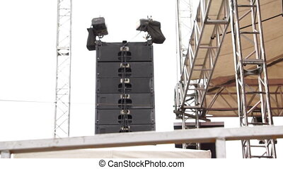Concert Outdoor Stage Hang Speakers - Different parts of an...