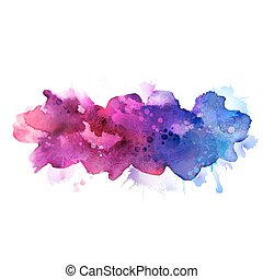 watercolor stains  - Purple and blue watercolor stains