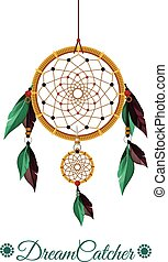 Dream Catcher Vector flat illustration